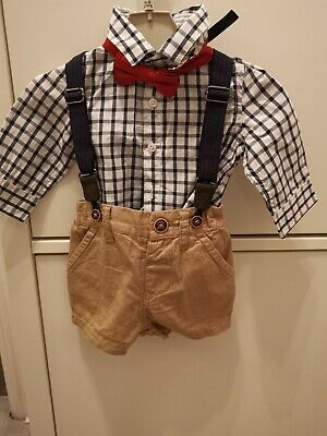 Next Baby Boy 3-6 Months Suit, Shirt And Shorts Braces