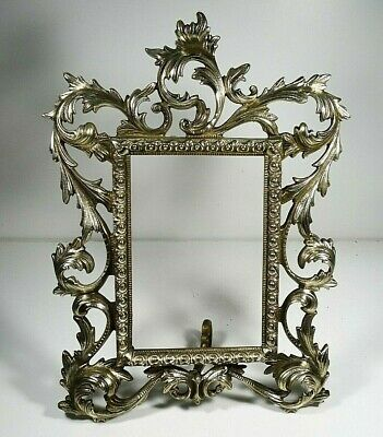 Solid Brass Frame Ornate Victorian Style Antique