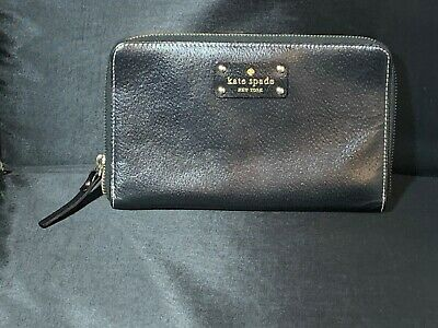 Kate Spade Leather Grand Street Travel Wallet Clutch
