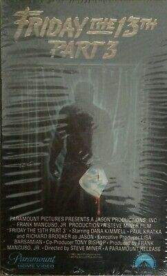 Friday The 13th Part 3 III Beta Video Tape NOT VHS Horror Thriller VERY CLEAN