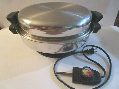 """Vintage Immersible Daisy 12"""" Electric Buffet Skillet EXCELLENT"""