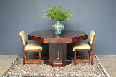 Stunning Art Deco Brazilian extension table & chairs.