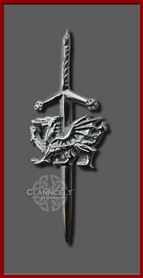 KILT PIN WELSH DRAGON Sword A tribute to Wales