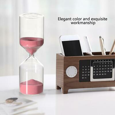 Cylinder Shape Hourglass 30Minutes Timer Clock Sandglass Home Decor Children Toy