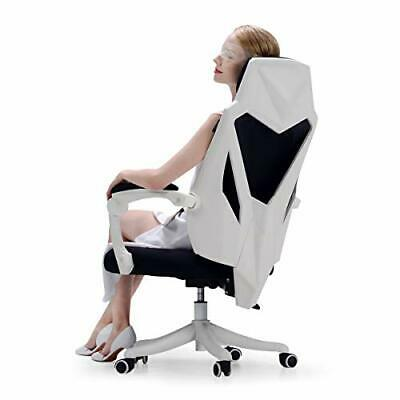 Hbada Office Adjustable Chair, High Back with Breathable Mesh Recline White