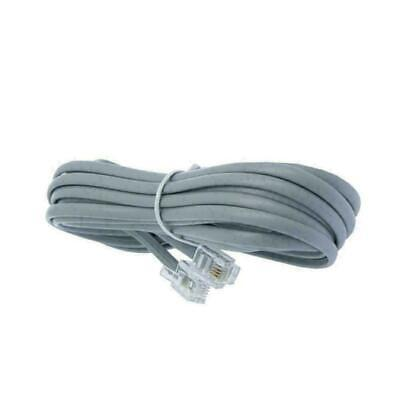 5 Pack Lot 14ft Telephone Line Cord Cable 6P6C RJ12 RJ11 DSL Fax Phone Silver