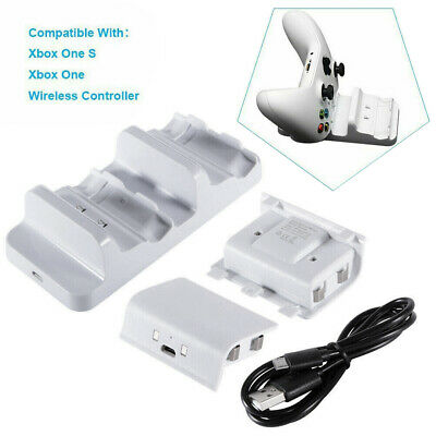 For XBOX One Dual Charging Dock Station Controller Charger+2 Battery Pack UK