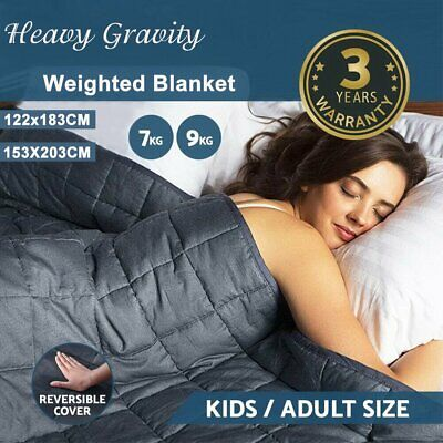 Premium Cooling Weighted Blanket Adults 7/9KG Heavy Gravity Deep Sleep Relax AU