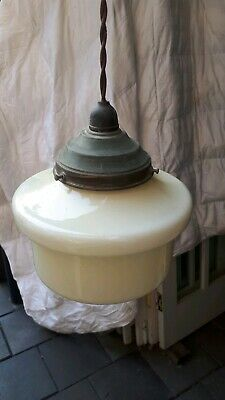 Period Art Deco Shade Glass Off White Lamp Light Diana Empire Beehive Diffuser