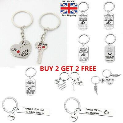 I Love You Heart Couple Key Chain Keyring Lover Valentines Day Gift Multi xcv