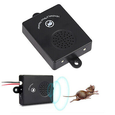 Ultrasonic Mouse Repeller For Car Under Hood Vehicle Rat Rodent Pest Repellent