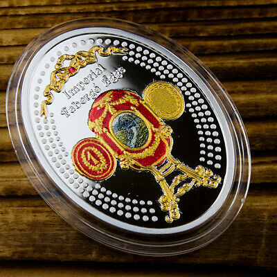 Blue Serpent Snake Clock Egg Imperial Faberge silver coin Niue Island 2018