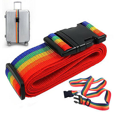 Adjustable Personalise Travel Belt Strap Baggage Tie Luggage Suitcase Lock Safe