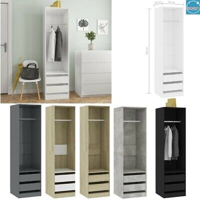 Modern Wardrobe Chipboard Storage Cabinet with 2 Drawers Comb Furniture Bedroom