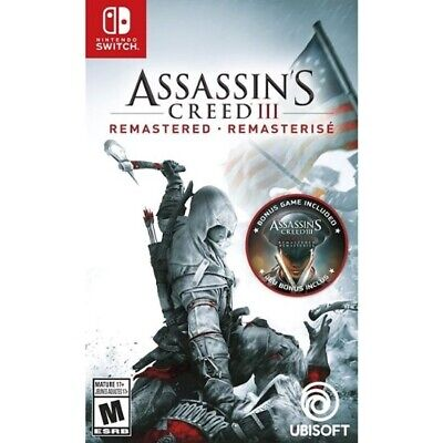 Assassins Creed III Remastered Nintendo Switch NEW DISPATCHING BY 2 P.M.
