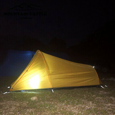 Lightweight 2 People Foldable Tent Sun-proof Camping Hiking Tent Waterproof