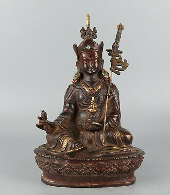 Chinese Exquisite Handmade Luohan copper statue