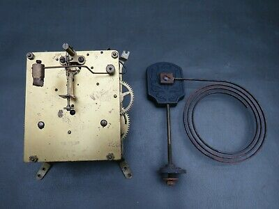 Vintage Kienzle mantel clock movement and gong for repair or spares