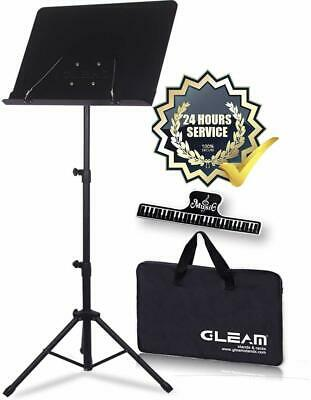 New Professional Adjustable Folding Sheet Metal Music Stand with Carrying Bag