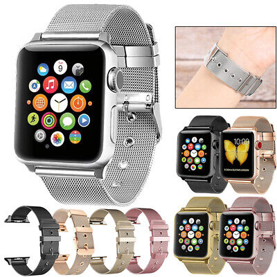 Milanese Stainless Steel Wrist Loop Strap Band For Apple Watch Series 5 4 3 40mm
