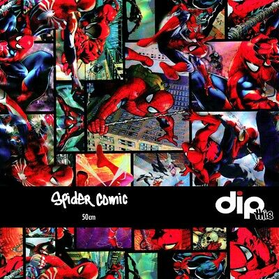Spider Comic - Hydrographics Film 50cm - Hydro Dipping ROLLED