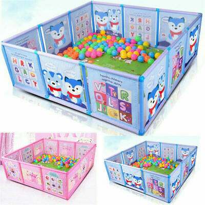 Baby Cartoon Children Foldable Playpen Kids Safety Play Fence Baby Game Toddler