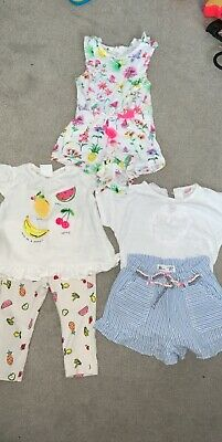 Baby Girl Zara And Next Outfits Bundle 3-6 6-9 Months RRP £45 New