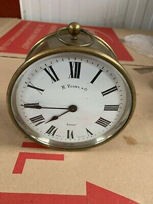 Vintage Brass Clock Spares or Repairs Untested
