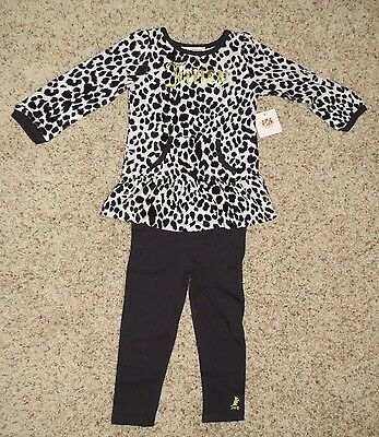 Juicy Couture Girls 2 Piece Tunic Legging Set - Size 4 - NWT
