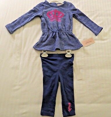 Juicy Couture Baby Girls 2 Piece Outfit - Size 12 Months - NWT