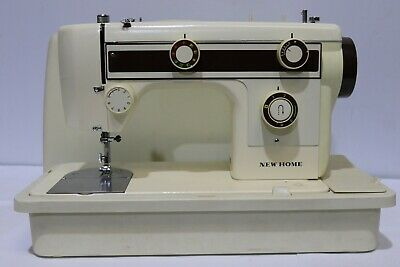 NEW HOME Model 632C Electric Sewing Machine + Foot Petal + Case + Accs  - 250