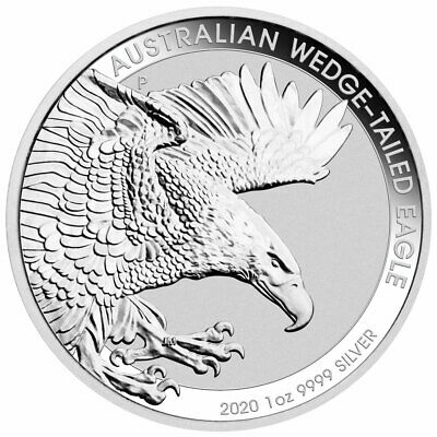 2020 Australia Wedged-Tailed Eagle 1 oz .9999 Silver BU Capsuled Coin