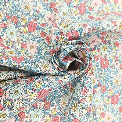 Liberty fabric, Arley Gardens floral, pink ditsy quilting cotton, Flower Show