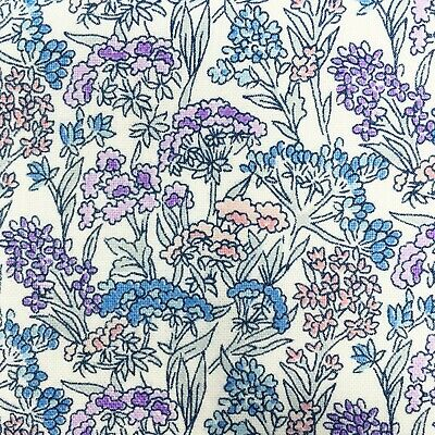 Liberty fabric, Yorkshire floral, lilac blue ditsy quilting cotton, Flower Show