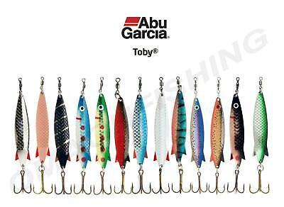 NEW Colours 18g Trout//Salmon//Bass Fishing Abu Garcia Toby Spoon Lures 7g