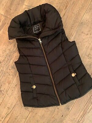 NEXT Girls Black Gilet Age 7-8yrs