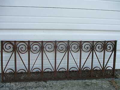 """Large Ornate Vintage/Antique Rusty Ornamental Iron Grate 41 3/4"""" Long"""