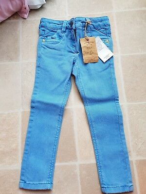 Next Girls Skinny Fit Jeans Blue Stretchy 4 Years BNWT RRP£13