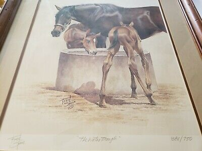 Fred Stone Horse Painting The Water Trough Print 381/750 Framed