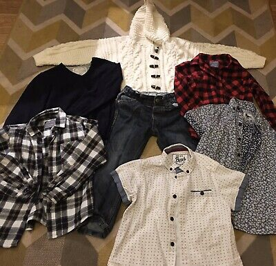 Bundle Of Boys Clothes Ages 4-5 Zara H&M Primark Shirts And Jeans And Jumper
