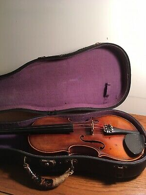 Old Stradivarius Copy Fiddle Violin Made in Czechoslovakia with Old Case