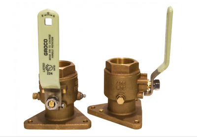 """FBV-750 GROCO 3/4"""" Bronze Tri-Flanged Ball Valve/Seacock. NEW with FREE Shipping"""