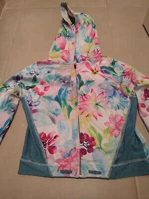 NEXT Girls age 10 yrs Sports Zip Jacket Top Multi coloured, VGC