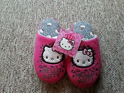 New With Tags Girls Hello Kitty Slippers Size 1 By Mark's & Spencer