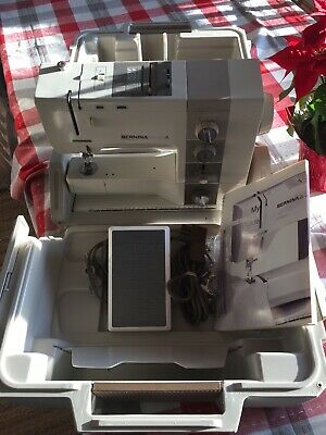 Bernina Record 930 Electronic Sewing Machine + Case, Extras Serviced Works Great