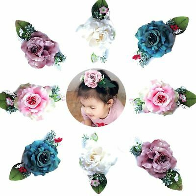 Glitter Photography Leaves Flower Hair Barrettes Girls Hair Clip Baby Hairpin