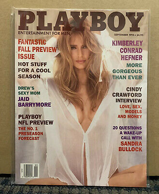 1995 September PLAYBOY Magazine KIMBERLEY CONRAD Great Cover Story & Ads (D16)