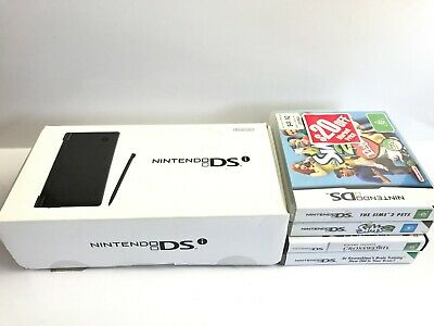 Boxed Nintendo Dsi and 4 games including Sims 2 Sims 2 Pets Tested Working Great