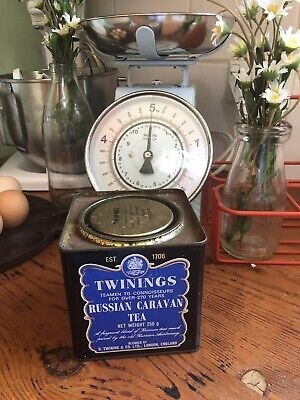 "VINTAGE COLLECTORS TWININGS TEA METAL TEA TIN ADVERTISING ""Russian Caravan """