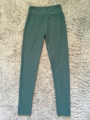 LulaRoe Leggings Solid Jade Green Tween XS (0-2) Athleisure Yoga Pants